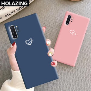 Case Note Soft-Silicone-Cover Heart-Print Samsung Galaxy S10-Plus for S8 10-9-8 Candy-Color