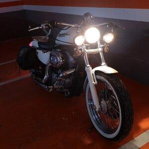 Image 5 - Luz de seta universal para motocicleta, cromada, luz auxiliar, drive, indicador de passagem, com suporte para garfo, de montagem