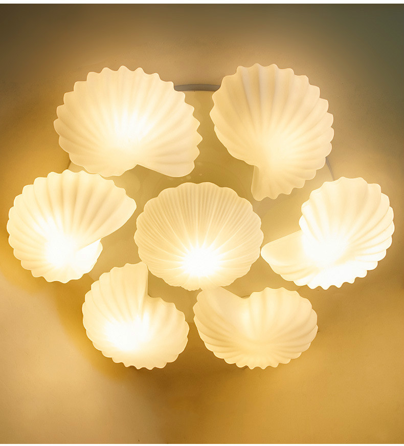 simples quarto sala estar disco conch lâmpada teto