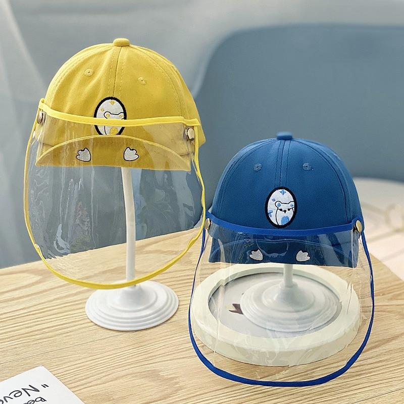 Хлопковая детская невыпадающая Соска-капелька щит шляпа от солнца с защитой маска мультяшная ведро шляпа защитный Кепки с защитный лицевой...