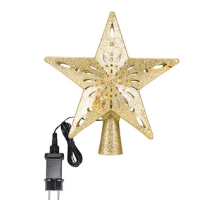 Image 5 - Christmas Tree Top Adjustable Star Led String Fairy Lights Curtain Led Christmas Xmas Wedding Decoration Party Garden Holiday
