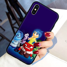 Kartun Animasi Inside Out Lembut Silicone Ponsel Case PENUTUP UNTUK iPhone 5 5S 6 6S 7 7 Plus X xr X 11 Pro Max(China)