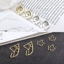 10pcs diy handmade jewelry retro hepburn avatar round abstract art face small flower pendant earring material