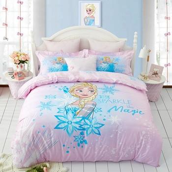 Disney Elsa Princess Frozen Queen Baby Bedding Set Cotton% Girls Boys Children Bedroom Decories Giift Duvet Cover Twin Queen