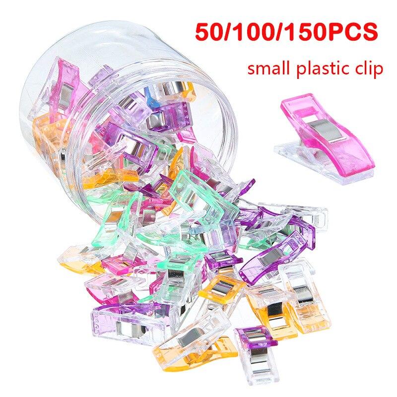 50/100/150 pièces Clips à coudre Clips en plastique Quilting artisanat crochting tricot Clips de sécurité couleurs assorties pinces à relier papier