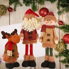 Складные Рождественские куклы Санта Клаус Снеговик забавные рождественские олени куклы украшения для дома вечерние подарки на год для детей