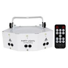 Wuzstar dmx512 Controller9-eye feixe de laser projetor rgb rotação modelada mista piscando para ktv palco festa da família decoração