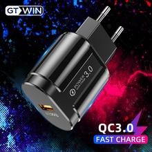 GTWIN 3A быстрое зарядное устройство USB зарядное устройство EU настенное зарядное устройство для мобильного телефона адаптер для iPhone 11 Pro QC3.0 Быстрая зарядка для samsung Xiaomi