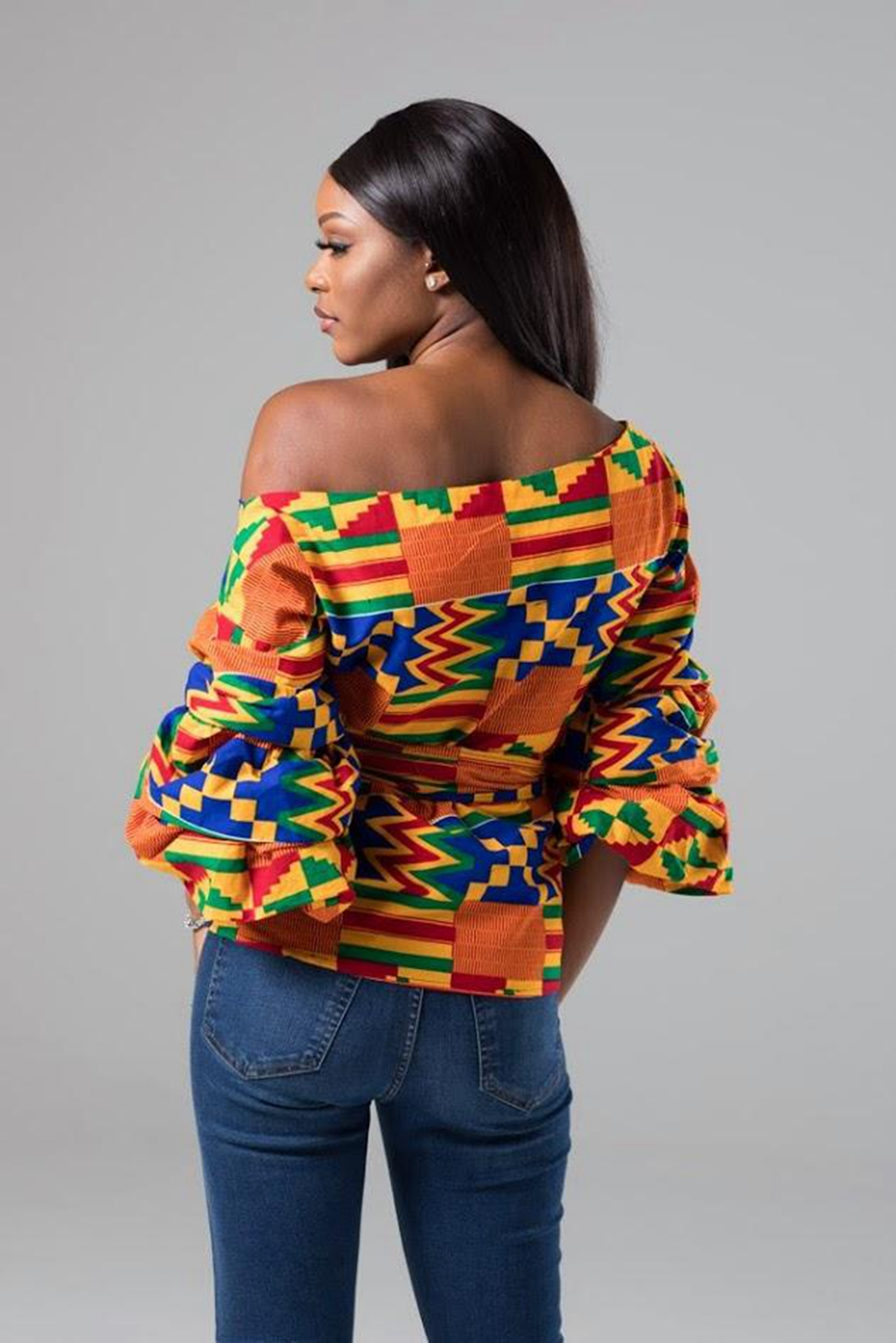 African Shirt Dresses For Woman Fashion Off Shoulder Summer African Blouse Tops For Office Lady Africa Bazin Dashiki Clothes