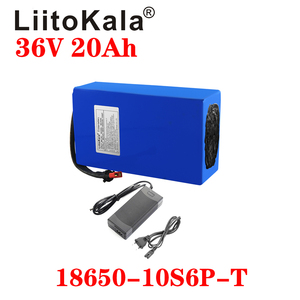 LiitoKala Hot sale 36V Lithium battery 36V 20AH Electric Bike battery 36 V 20ah 1000W Scooter Battery with 30A BMS 42V2A charger(China)