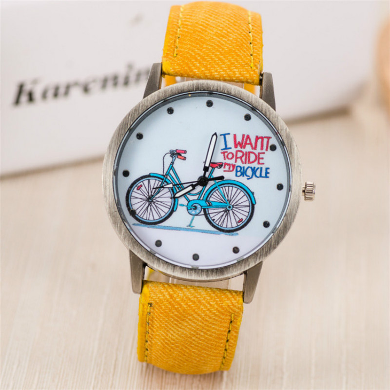 Women Watches Canvas Watchband Quartz Wristwatch Fashion Personality Bronze Header Children Watch Cute Student Gifts Reloj