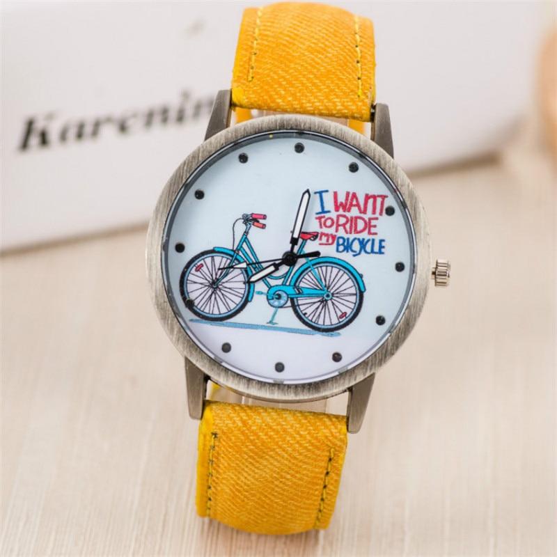 Women Watches Canvas Watchband Quartz Wristwatch Fashion Personality Bronze Header Children Watch Cute Student Gifts Reloj