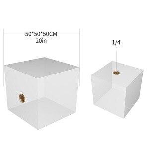 Image 4 - 3 ב 1 Vlogger צילום קריסטל כדור אופטי זכוכית קסם תמונה כדור עם 1/4 זוהר אפקט דקורטיבי צילום סטודיו