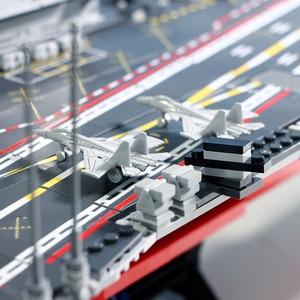 Image 3 - SEMBO DHL 3010pcs Aircraft Toy Carrier 1:350 Model Building Blocks Military Army Warship Cruiser Bricks Set Models Kids Gift