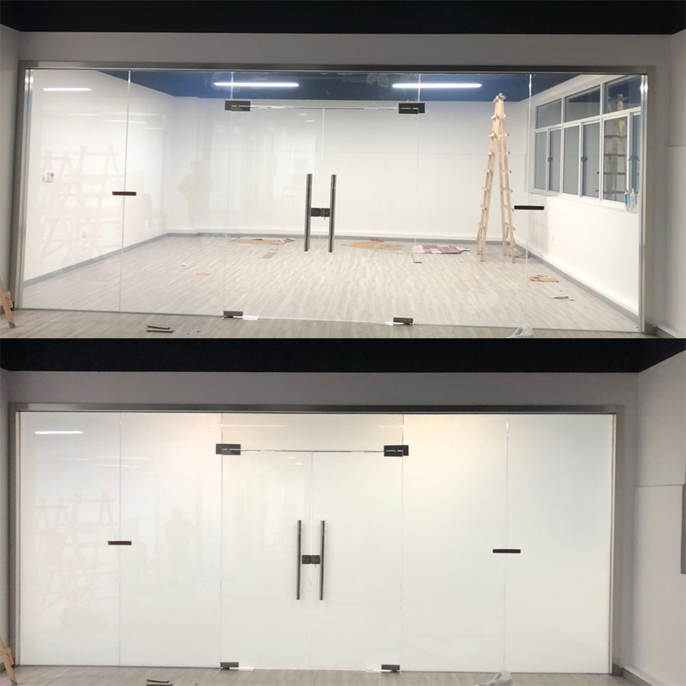 HOHOFILM 10cmx10cm Smart Film Building Window Glasses Smart Film PDLC Magic Switchable Transparent Color Film Sample 4
