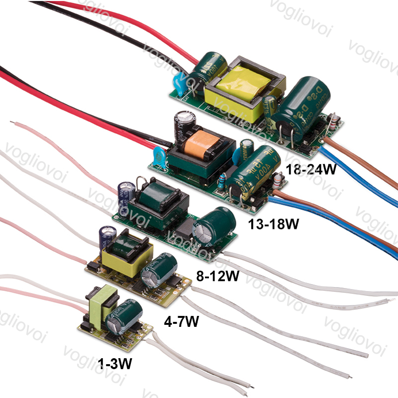 Vogliovoi Led Transformer 300MA 110~220V  IP20 1-3W 4-7W 8-12W 13-18W 18-24W For Downlight Bulb Spotlight Built In Driver PCB