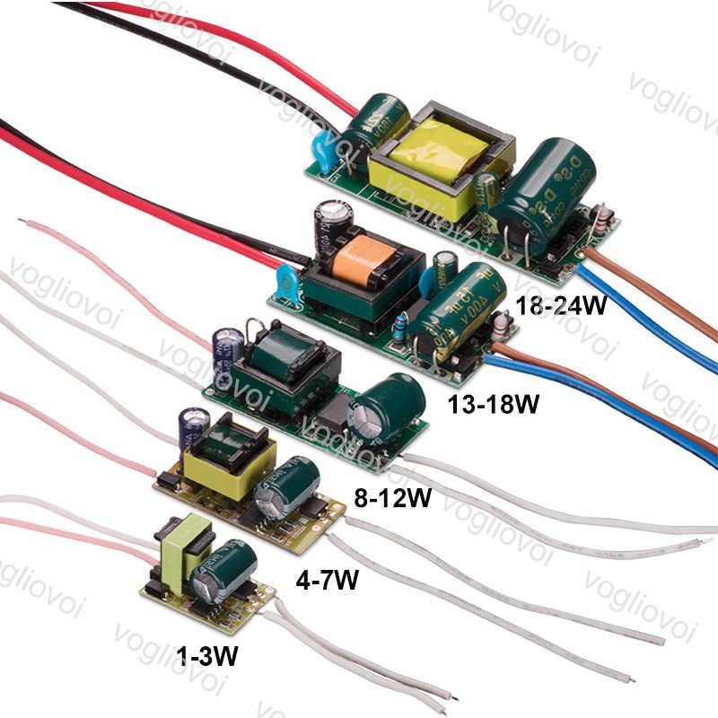 Vogliovoi Led trafo 300MA 110 ~ 220V IP20 1-3W 4-7W 8-12W 13-18W 18-24W Downlight ampul spot dahili sürücü PCB