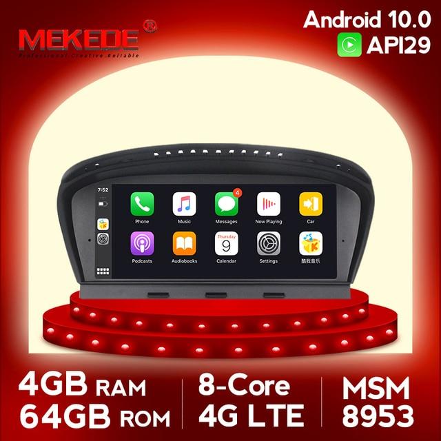 4 4g lte 4 グラム + 64 グラムipsスクリーンアンドロイド 10.0 カーラジオのgps bmw 5 シリーズE60 e61 E63 E64 E90 E91 ccc cic glonassナビゲーションなしのdvd