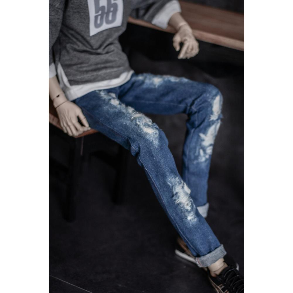 [wamami] Detailed Distressed Jeans 1/3 1/4 SD17 BJD Dolls Outfits