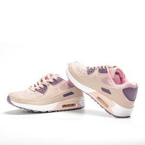 Image 2 - 2020 fujin springfashion sapatos femininos casuais sapatos tenis feminino luz respirável malha sapatos plataforma senhora tênis