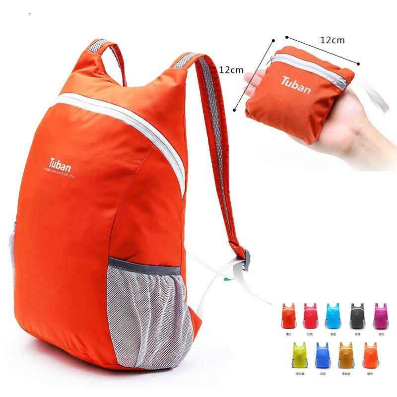 Lightweight Nylon Foldable Backpack Waterproof Backpack Folding Sports Bag Ultralight Outdoor Bags Pack Women Men Travel Hiking