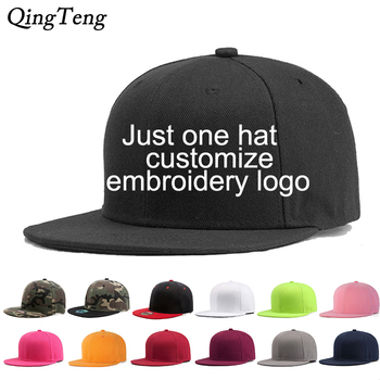 Custom Logo Snapback Cap Team Embroidery Letters Baseball Caps Men Women Hip Hop Flat Hats Outdoor Casual Couple Hat