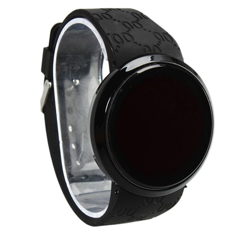 New Hot Model LED Electronic Watch Male And Female Students Silicone Touch Screen Creative Casual Lead Watch Chronograph