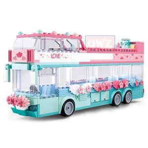 Image 5 - City Wedding Party Car Girl Friends Romantic Wedding Dress Model Building Blocks Bricks Princess Prince Toy Children Gift