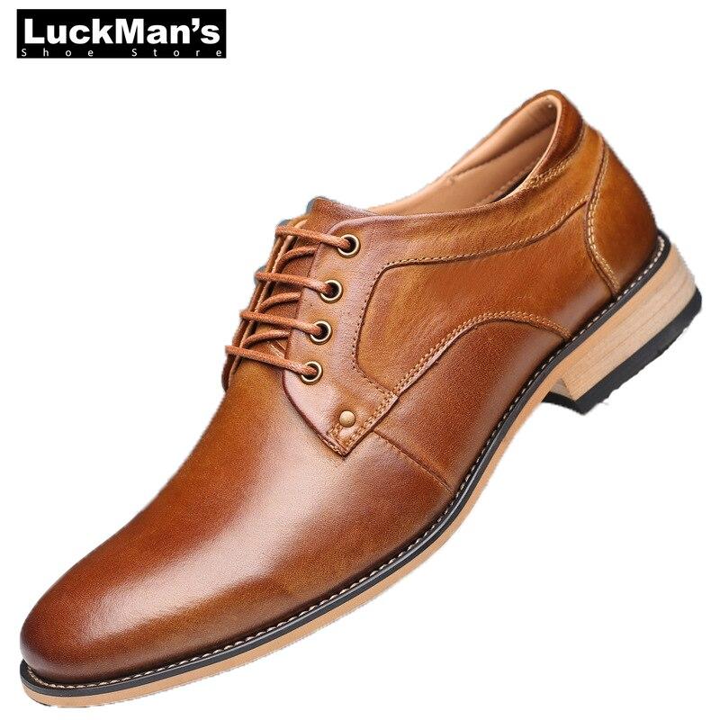 Hommes chaussures décontractées de haute qualité Oxfords hommes en cuir véritable robe chaussures d'affaires chaussures formelles chaussures plates pour homme grande taille fête de mariage