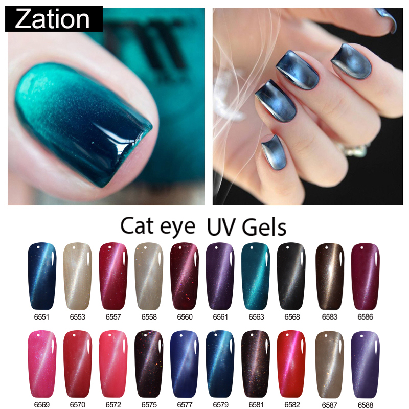 Zation Cat Eye Nail Gel Polish Shining Colorful Glue Nail Art Semi Permanent Magnetic Enamel Gel Nail Lacquer Varnish