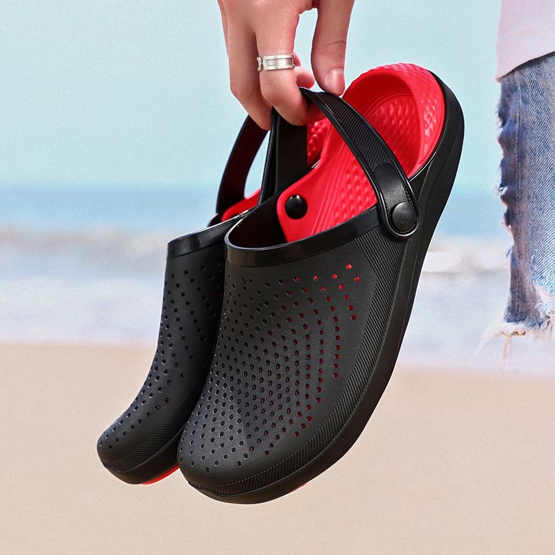 Fashion Palm Sandals For Men Hole Shoes Man Breathable Beach Sandals For Men 38-46 Garden Clogs Garden Shoes Slides Soft Bottom