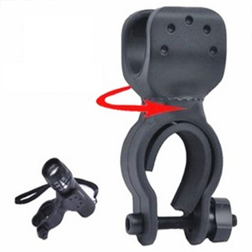 New 2015 Hot Universal Black Rubber Bicycle Bike Mount Bracket Clip Clamp Holder For LED Light Lamp Flashlight Torc