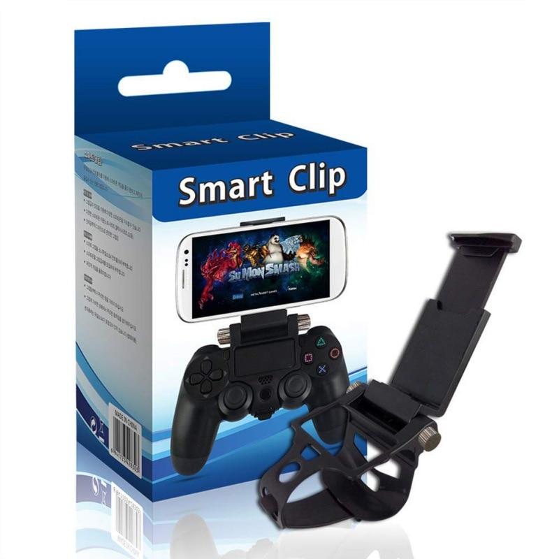 Adjustable Phone Bracket Gaming Gamepad Wrap Holder Mount For PS4 Controller Smart Mobile Phone