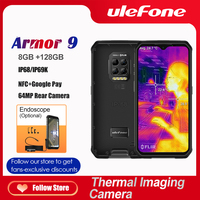 Ulefone Armor 9-Cámara de imagen térmica para teléfono móvil, resistente, FLIR®Teléfono Inteligente Android 10, 128GB, Helio P90, 6600mAh, 64MP