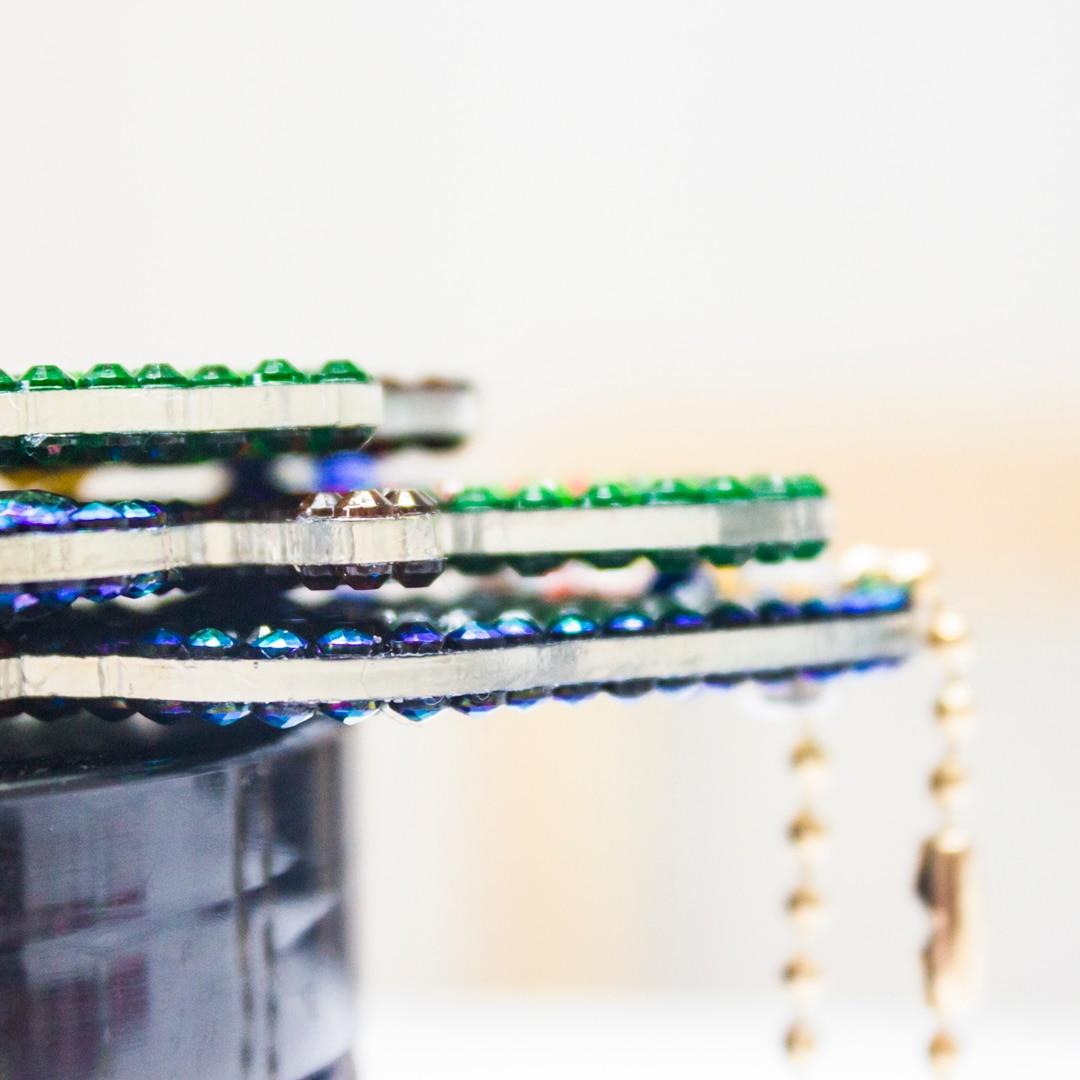 Роза рисунок рисунок алмазов с алмазной инкрустацией брелок брелок 5D алмазная мозаика вышивка мешок кулон дети подарок