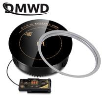 DMWD круглая электрическая Магнитная индукционная плита с проводным управлением, Встроенная мини варочная панель, коммерческая Водонепроницаемая плита с горячим горшком