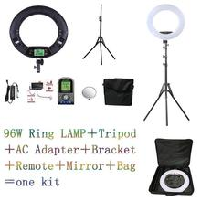 Yidoblo Black FE-480II 5600K Dimmable Camera Ring Light 480 LED Video Light Lamp LCD RC Photographic Lighting +2M stand+ handbag yidoblo pink 96w 480pcs bi color photo studio ring led video light photographic lamp lcd screen display with remote controller