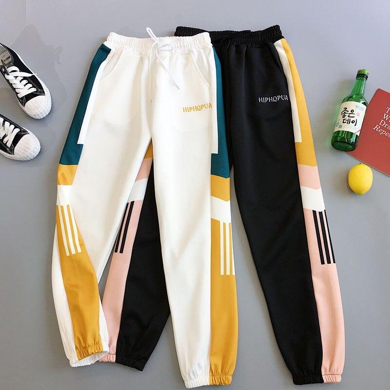 Women's Straight Pants Harajuku Style Loose Casual Harem Pants Sweatpants Simple High Waist Sport Style Pants Wholesale