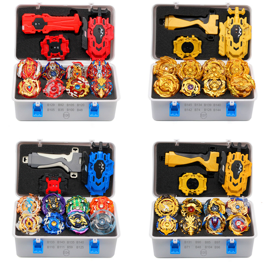 2019 Gold Takara Tomy Launcher Beyblade Burst Arean Bayblades Bables Set  Box Bey Blade Toys For Child Metal Fusion New Gift