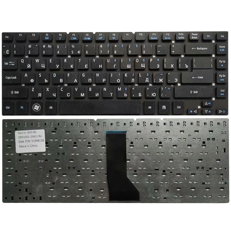 Russian NEW Keyboard For Acer Aspire 3830 3830G 3830T 3830TG 4830 4830G 4830T 4830TG V3-471 RU Black Keyboard