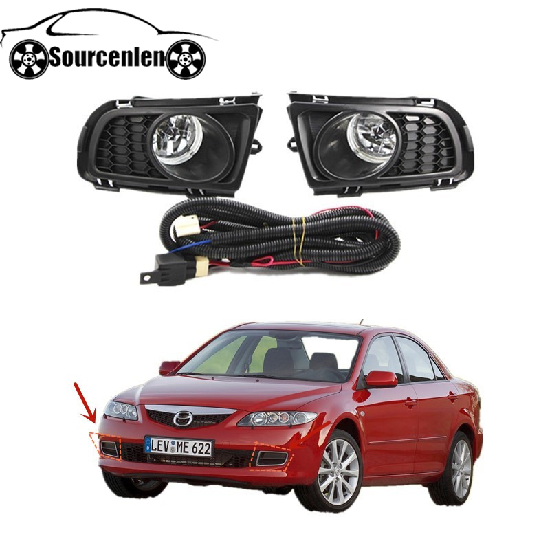 Auto Front Bumper Fog <font><b>Light</b></font> for <font><b>MAZDA</b></font> <font><b>6</b></font> Sedan GG1 2006 2007 2008 2009 2010 Fog Lamp Driving <font><b>Light</b></font> Foglight Foglamp with Bulb image