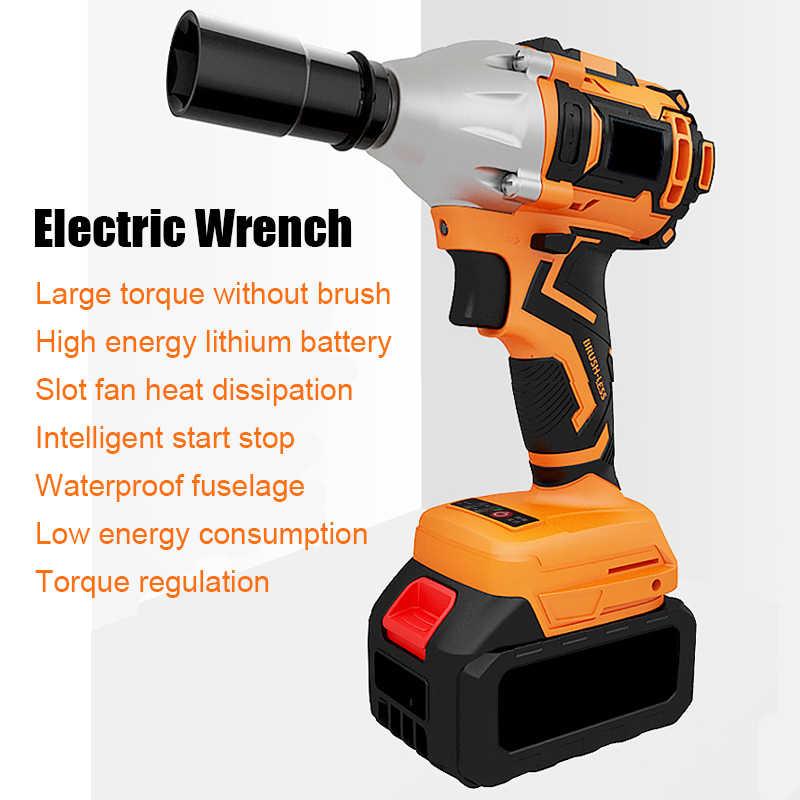 ブラシレス衝撃電動レンチ棚電動レンチ手リチウム充電式風銃高トルク強力な自動車修理ツール