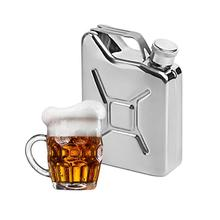 1PC Stainless Steel Flagon 5 oz Hip Flasks portable Whisky Wine Pot Metal Fuel Petrol Cans for Liquor Bottle #OW