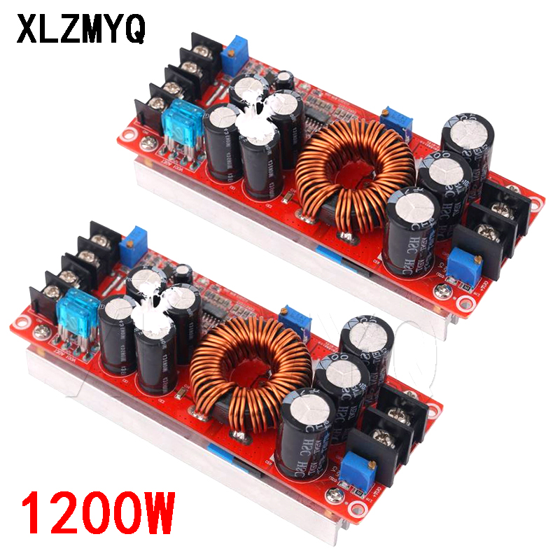 Convertisseur 1200 W 20A DC Boost Module d'alimentation électrique en 8-60V sortie 12-83V avec dissipateur thermique 1200 W 12V à 24V 48V