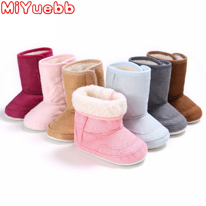2020 Newborn Baby Girls Shoe Fashion Snow Boot  Cashmere Plush Winter Boots Baby Soft Booties Infant Toddler Newborn Crib Shoes