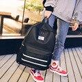 Большая Подростковая школьная сумка для девочек  рюкзак для женщин  студенческие книжные сумки  черная однотонная школьная сумка для подро...