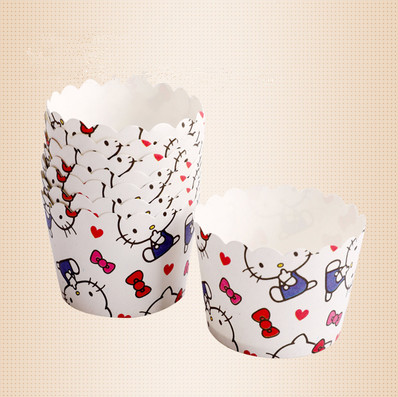 Free Shipping carton <font><b>cat</b></font> decoration small paper cupcake holder case, muffin <font><b>cake</b></font> <font><b>cups</b></font>, decorative <font><b>cup</b></font> for party kids birthday image