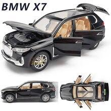 Modelo de carro liga 1:32 BMW-X7 suv metal fundido brinquedo modelo de carro puxar para trás brinquedo das crianças collectibles frete grátis modelo carro