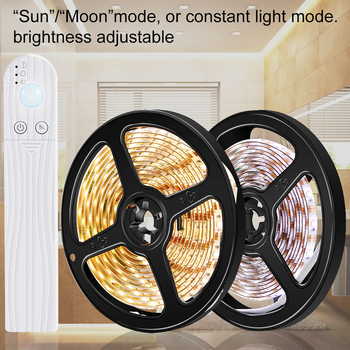 AAA Battery Motion Sensor Led Strip Light Fita Tiras Waterproof 5V LED Lamp 2835SMD Diode Tape Ribbon Bedroom Wall - discount item  9% OFF Indoor Lighting