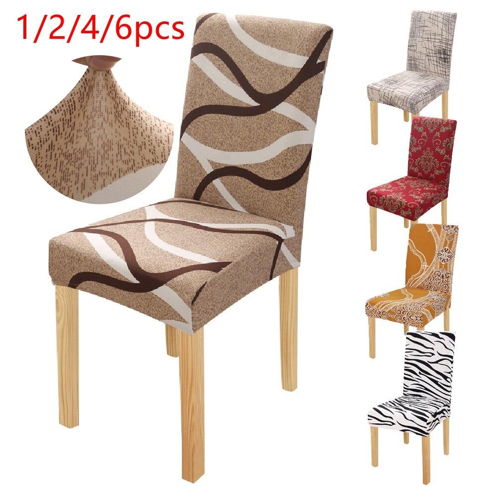 1/2/4/6 шт. с принтом Зебра стрейч крышка стула большой эластичный сиденья чехлы на стулья картина чехлов ресторан, банкетный стол, железная Люстра для гостиницы|Чехлы на стулья|   | АлиЭкспресс
